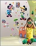 ENFANTS STICKERS MURAUX GRAND DISNEY Mickey la souris Mickey Mouse 3D EFFET AUTOCOLLANTS FILLES CHAMBRE DE MUR CHAMBRE DECOR Décoration Sticker Adhesif Mural Géant Répositionnable...