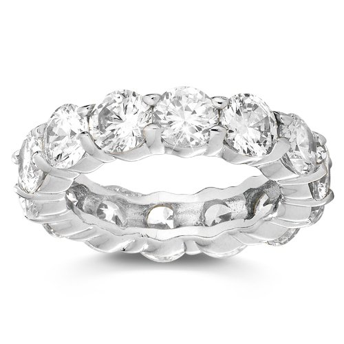 Cubic Zirconia Stackable Eternity Band Ring