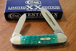 Case Cutlery Canoe Sea Green Bone Single Blade Pocket Knife by Case