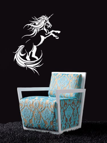 Housewares Vinyl Decal Fairy Unicorn Horse Mustang Home Wall Art Decor Removable Stylish Sticker Mural Unique Design For Any Room front-591801