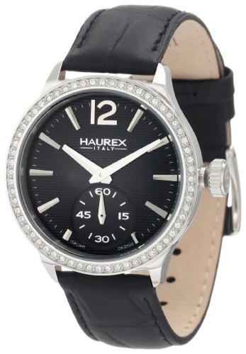 HAUREX ITALY Grand Class Black Dial Watch #FS341DNN- Orologio da donna