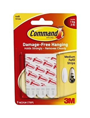 Command Medium Mounting Refill Strips