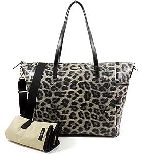 Kate Spade York Grant Street Grainy Vinyl Adaira Baby Bag (Leopard)