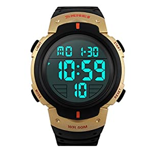 skmei simple design digital lcd screen sport wrist