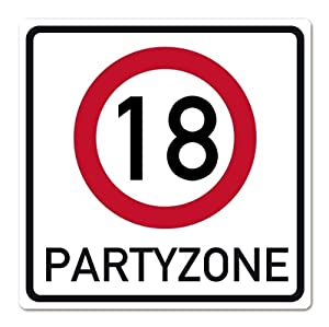 Private Signs Giant Pvc Traffic Sign For 18th Birthday