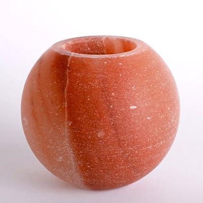 Himalayan Crystal Salt Tea Light Holder - Ball / Round / Sphere - Glowing Air Purifier by Himalayan Salt Lamps