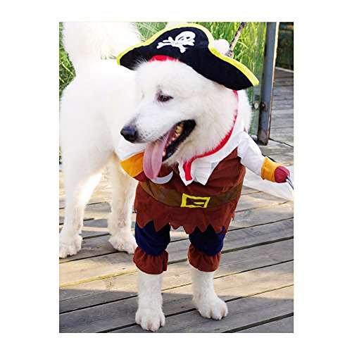 [JTENGYAO Pet Dog Costume Pirates of the Caribbean Style XL] (Army Dog Costumes)