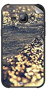 GsmKart GLXJ1 Mobile Skin for Samsung Galaxy J1 (Golden, Galaxy J1-920)