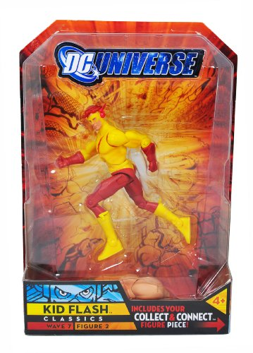 Buy Low Price Mattel DC Universe Wave 7 Classics 5-1/2 Inch Tall Action Figure #2 – KID FLASH with Atom Smasher Right Arm (B002NIZD8Q)