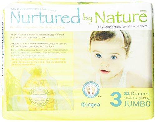 Nurtured by Nature Environmentally-Sensitive Diapers, Jumbo Size 3, 31 count - 1