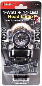 Ampro Tools T19790 1-Watt + 14 LED Headlamp at Sears.com