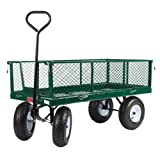 "Farm Tuff 24""X48"" Metal Deck Wagon with Metal Fold Down Sides Green ~ Farm Tuff"