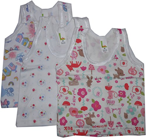 Bubbles Sleeveless Vests - Set Of 3 (3-6 Months) - M Size