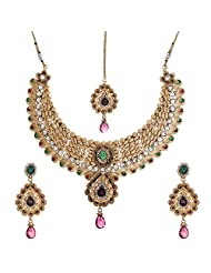 Shahenaz Jewellers 24 Ct Gold Plated Bridal Jewellery Set For Women