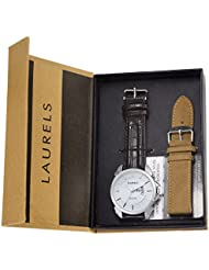 Laurels Invictus 8 Analog White Dail Men's Watch With Additional Strap ( Lo-Inc-801s)