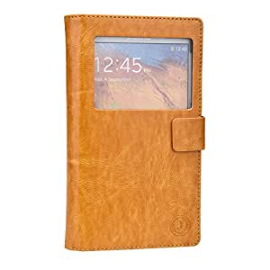 Jo Jo Cover Corbett Series Leather Pouch Flip Case For Samsung Galaxy S5 Light Brown