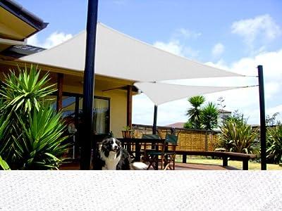 Sonnensegel Dreieck viele Größen HDPE atmungsaktiv CelinaSun verschiedene Farben rechtwinklig von CelinaSun auf Gartenmöbel von Du und Dein Garten