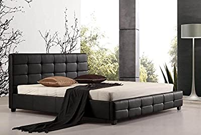 Pulsar Ottoman Faux Leather Bed - Black, Brown - 3ft Single, 4ft6 Double, 5ft Kingsize