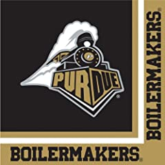 Buy Creative Converting Purdue Boilermakers Luncheon Napkins (20 Count) by Creative Converting