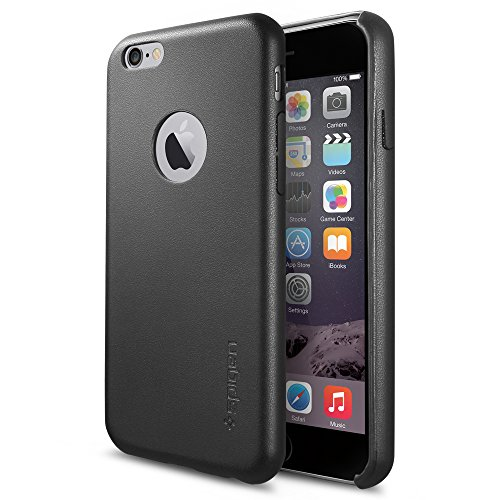 SpigeniPhone6s  ケース / iPhone6 ケース, レザー・フィット [パーフェクト-フィット] アイフォン6 用 カバー (ブラック SGP11354)