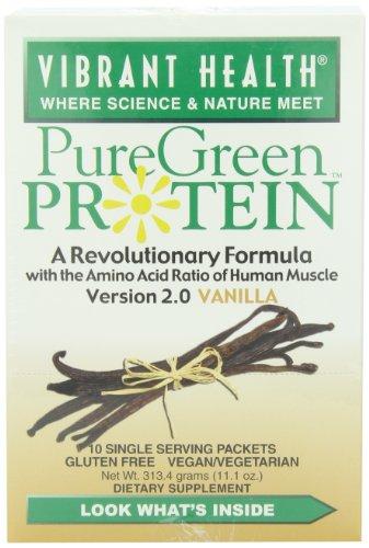 Vibrant Health Puregreen Protein, Vanilla, 10-Count