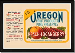 Framed Art Poster 20x30, Peach - Loganberry Preserves