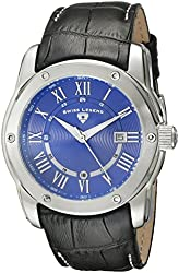 Swiss Legend Men's 10005Q-03 Traveler Stainless Steel Watch with Black Leather Band