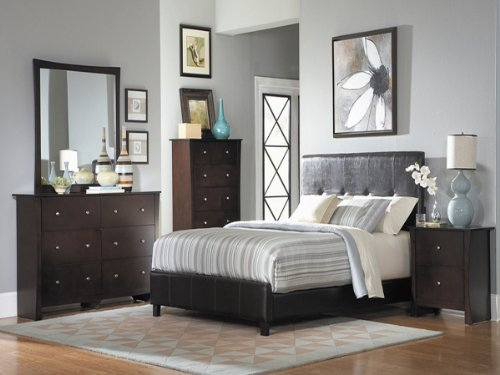Avelar 5 Pc California King Bedroom Set With Chest By Homelegance In Cherry front-1060232