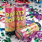 Spring Loaded Party Poppers - 12 pc