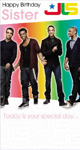 JLS Sister Birthday Card