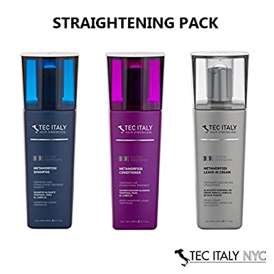 Tec Italy Straightening Pack: Metamorfosi Shampoo 10.1 Oz. + Metamorfosi Conditioner 10.1 Oz. + Metamorfosi Leave in Treatment 10.1 Oz.