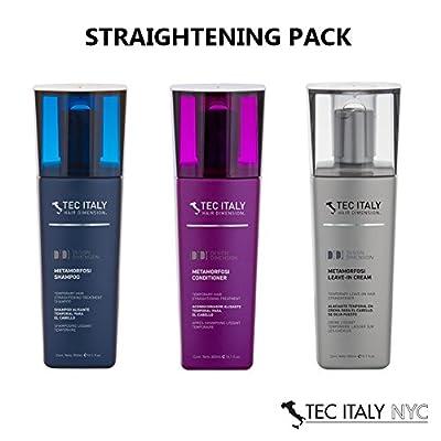 Tec Italy Straightening Pack: Metamorfosi Shampoo 10.1 Oz. + Metamorfosi Conditioner 10.1 Oz. + Metamorfosi Leave in Treatment 10.1 Oz.