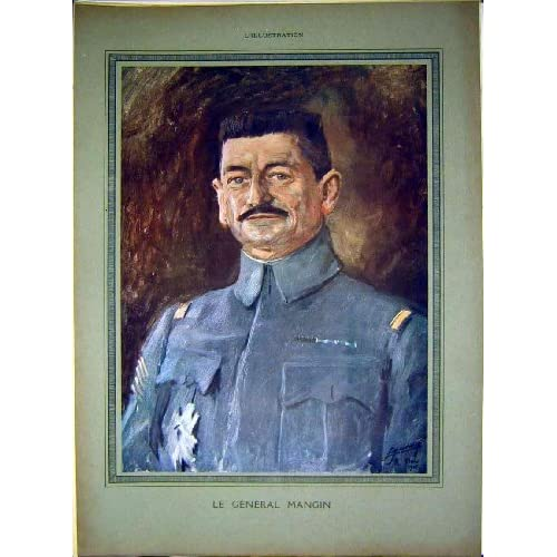 Portrait General Mangin Military French Print 1917