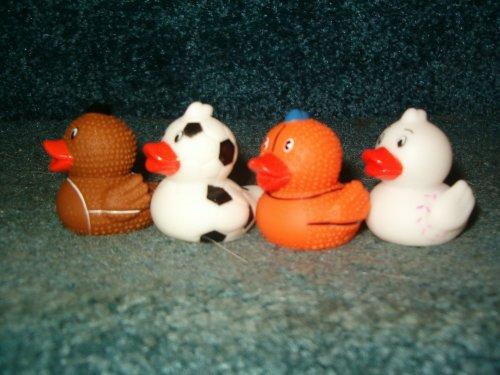 12 Miniature SPORTS Rubber Ducks/DUCKIES/BASKETBALL/Baseball/FOOTBALL/Soccer/PARTY FAVORS/Dozen - Buy 12 Miniature SPORTS Rubber Ducks/DUCKIES/BASKETBALL/Baseball/FOOTBALL/Soccer/PARTY FAVORS/Dozen - Purchase 12 Miniature SPORTS Rubber Ducks/DUCKIES/BASKETBALL/Baseball/FOOTBALL/Soccer/PARTY FAVORS/Dozen (Oriental Trading Co, Toys & Games,Categories,Activities & Amusements,Bath Toys)