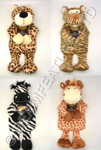 Wildlife Warmers Hot Water Bottles with Cover- X1 RANDOM ANIMAL DESIGN