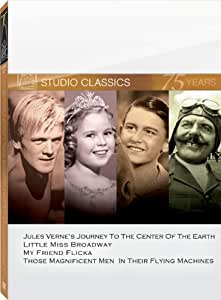Classic Quad Set 6 (Journey to the Center of the Earth / Little Miss Broadway / My Friend Flicka / Those Magnificent Men in Their Flying Machines)