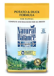 Natural Balance Puppy Formula L.I.D. Limited Ingredient Diets Potato & Duck Dry Dog Food, 4.5 lb