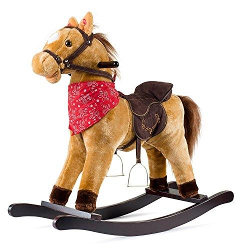 Cowboy Rocking Horse - Tan Brown