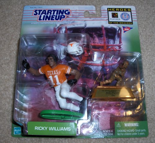 1999 NCAA Football Heroes of the Gridiron Starting Lineup - Ricky Williams - Texas - 1