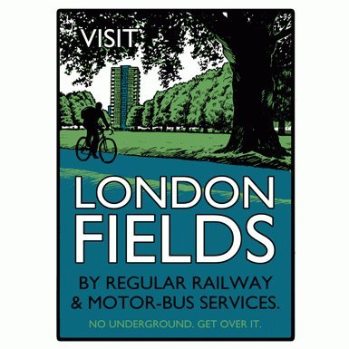 Visit London Fields'' Print by Beyond Thrilled