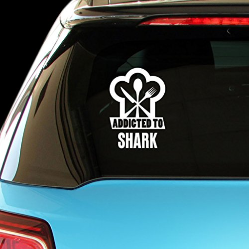 ADDICTED TO SHARK Food Drink Vegetable Car Laptop Wall Sticker