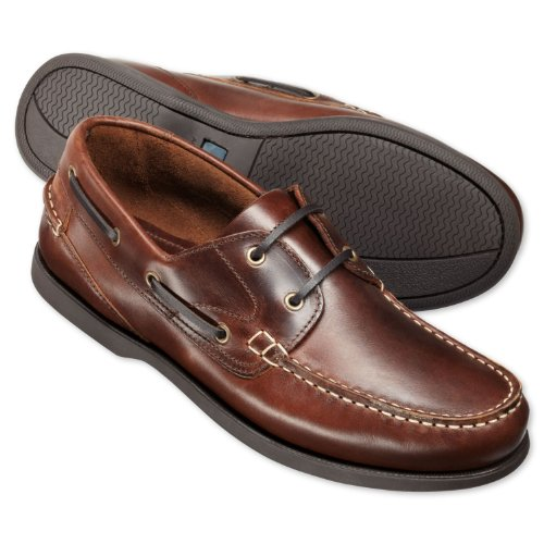 Charles Tyrwhitt Brown leather boat shoes (9 UK)