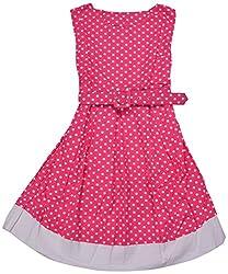 Apsara Girls' Dress (Pink, 4-6 Years)
