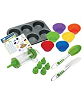 Curious Chef 16-Piece Cupcake and Decorating Kit