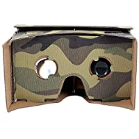 SeresRoad® Camouflage Unassembled DIY Google Cardboard Cellphone Valencia Quality 3d Vr Virtual Reality 3D Glasses Alnico Magnet with Packing Box for iPhone Samsung HTC Moto X Nexus 5 Cellphones (Camouflage) from SeresRoad