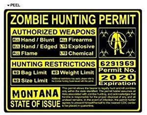 Montana mt zombie hunting license permit for Mt fishing license