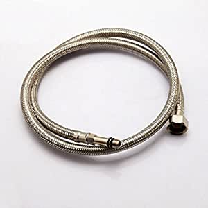 Ufaucet Faucet Hose 3 8 Female Compression Braided Flexible Faucets Water Supply Lines 24 Inch