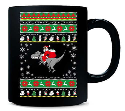 Ugly Sweater Santa Riding T rex