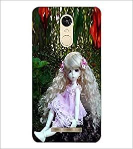 PrintDhaba Long Curly Hair Doll D-1071 Back Case Cover for XIAOMI REDMI NOTE 3 MEDIATEK (Multi-Coloured)
