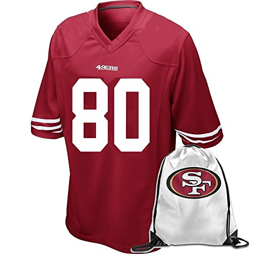 80 Jerry Rice Kids Jersey Team Color Scarlet Large
